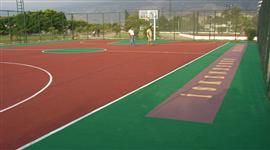 Akrilik Zemin Uygulamaları basketbol sahası
