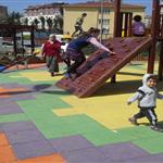 Kauçuk Karo zemin kaplama çocuk parkı