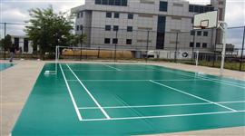 Poliüretan Zemin kaplamalar tenis sahası