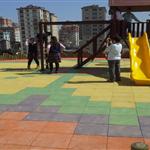 Kauçuk Karo kaplama çocuk parkı