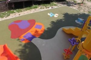 kauçuk zemin kaplama çocuk parkı